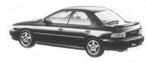 Subaru Impreza 4WD HARD TOP SEDAN 1.8L HX EDITION-S 1992 г.