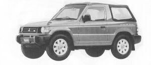Mitsubishi Pajero J TOP VS 1992 г.