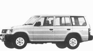 Mitsubishi Pajero KICK UP ROOF XE VAN 1992 г.