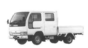 Nissan Atlas 1.0T LONG SUPER LOW DOUBLE CAB 1992 г.