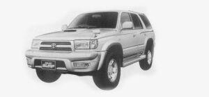 Toyota Hilux Surf 4WD 3.0 DIESEL TURBO INTERCOOLER, SSR-G 1999 г.