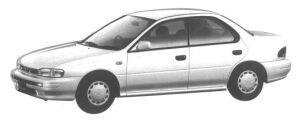 Subaru Impreza 4 DOORS HARD TOP SEDAN 1.5L CS-EXTRA 1994 г.
