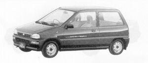 Subaru REX 4WD 3DOOR SEDAN A-I ECVT 1991 г.
