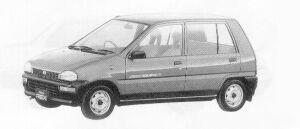 Subaru REX 4WD 5DOOR SEDAN C-I ECVT 1991 г.