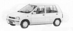 Subaru REX 5DOOR SEDAN  FERIA II  ECVT 1991 г.